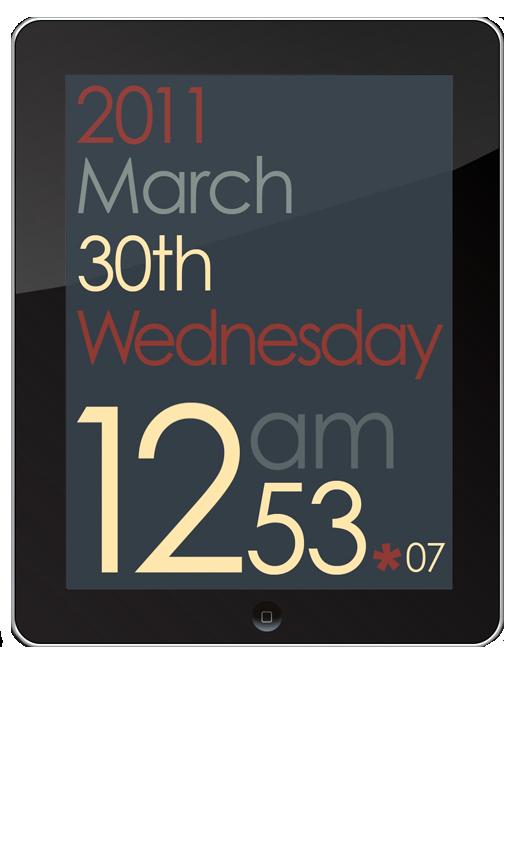 Cool App Designs Design Clock Ipad App